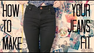 How to make the waist of your jeans smaller