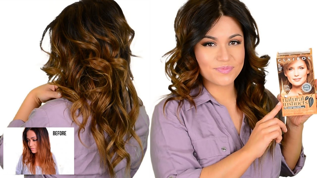 Diy Drugstore Tone Brassy Orange Ombre Amp Highlighted Hair