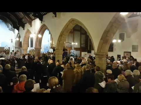 Denbighshire County Council Carol Service – The congregation sing 'Silent Night'