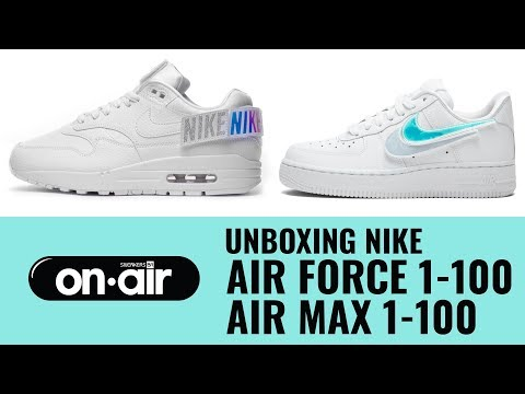 new concept cadf3 15484 81 - Unboxing Nike Air Force 1-100 + Air Max 1