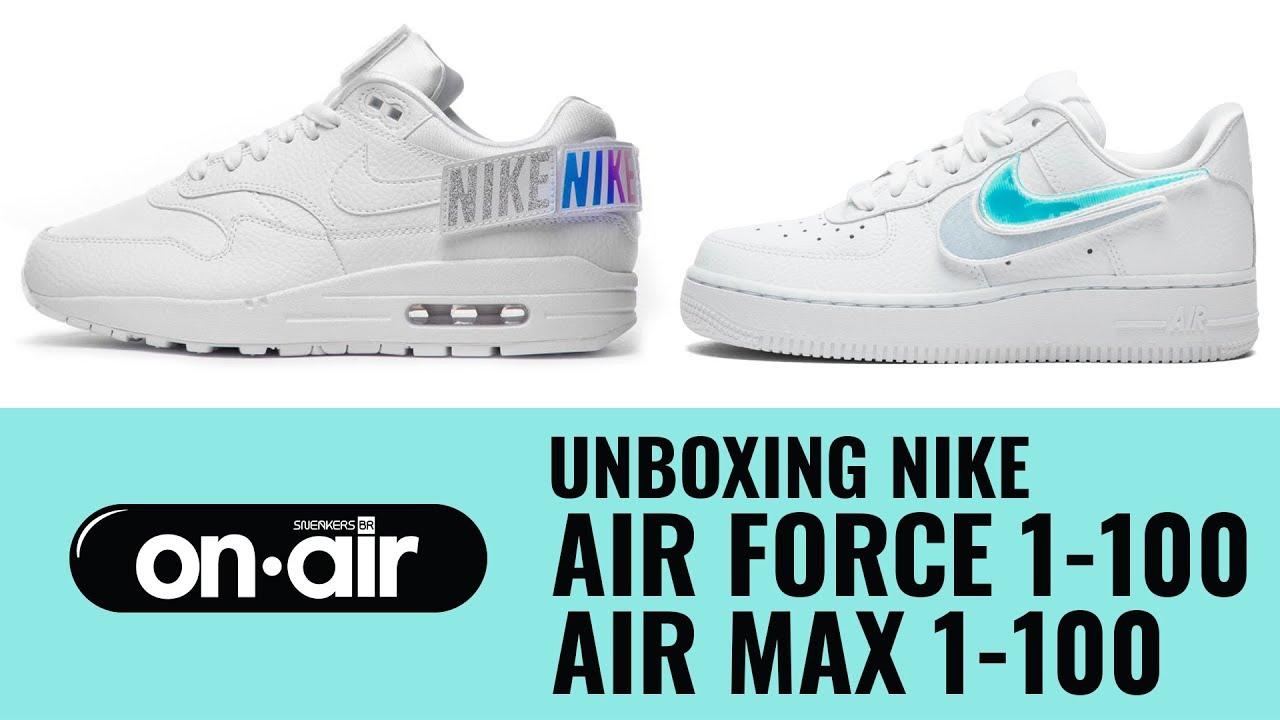 SBROnAIR Vol. 81 Unboxing Nike Air Force 1 100 + Air Max 1 100 #piranomeuair