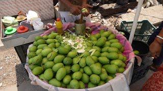 Summer Special Kacha Aam Masala of Kolkata   Indian Street Food