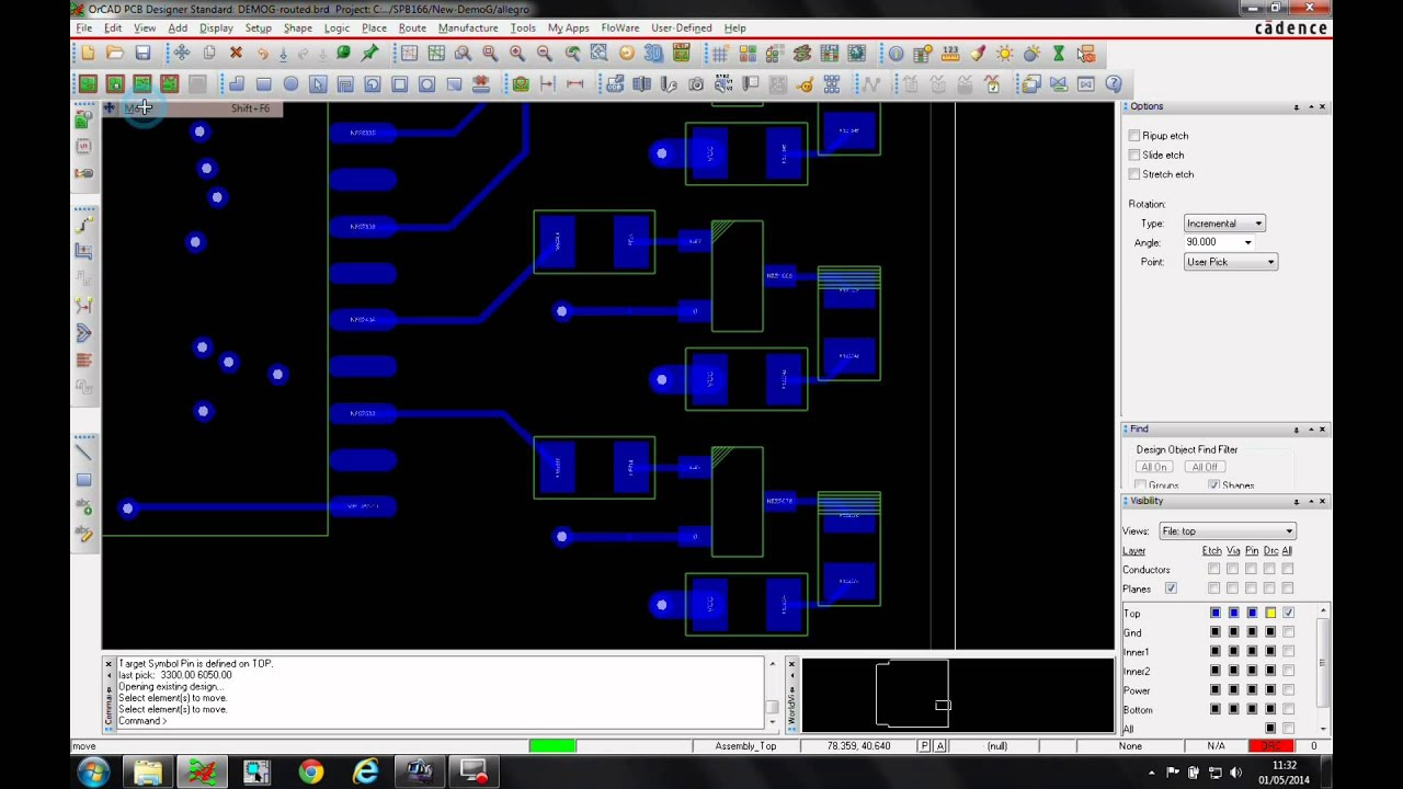 Tutorial Cadence OrCAD Allegro PCB Editor Move with Slide - YouTube