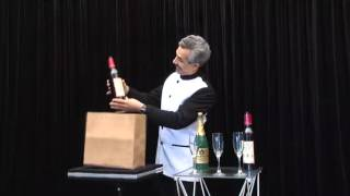 Appearing Champagne and Wine Bottles from Empty Paper Bag(Tora Magic) www.toramagic.com