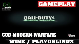 Gameplay  Call of Duty Modern Warfare no lInux