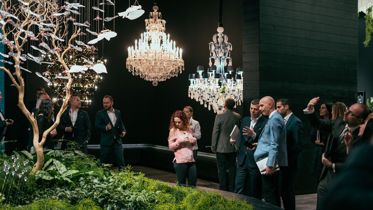 Exhibition salone del mobile 2017 cultivation of chandeliers exhibition salone del mobile 2017 cultivation of chandeliers since 1724 preciosa lighting aloadofball Gallery