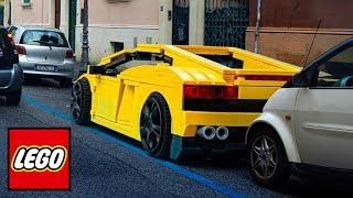 LIFE SIZE LEGO CARS (Ferrari, Tesla, Ford & MORE!)