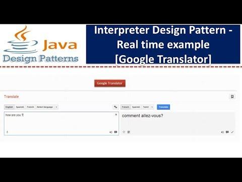 Interpreter Design pattern - Real time example [Google Translator]