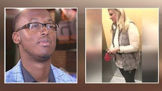 St. Louis woman who blocked black man from entering building speaks out