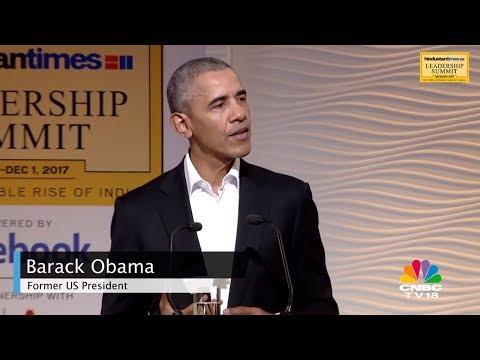 Barack Obama Speaks on Indo-US Relations | HT Leadership Summit | CNBC TV18