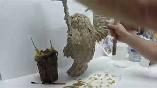 DIY: HOW TO MAKE AN AMAZING PAPER MACHE OWL WITH PONTED WINGS