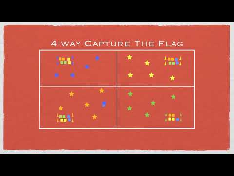 Physical Education Games - 4-Way Capture The Flag