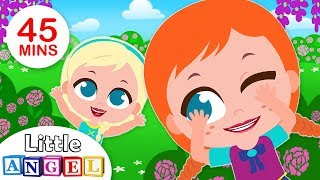 Peekaboo Song, Elsa & Anna Play Hide & Seek | Kids Songs & Nursery Rhymes by Little Angel