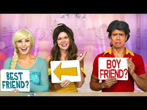BELLE AND ELSA VS GASTON IN BEST FRIEND TAG Totally TV Challenge