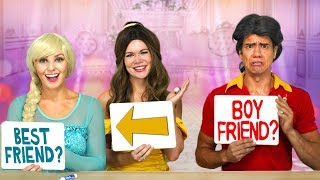 Baixar BELLE AND ELSA VS GASTON IN BEST FRIEND TAG. Totally TV Challenge.