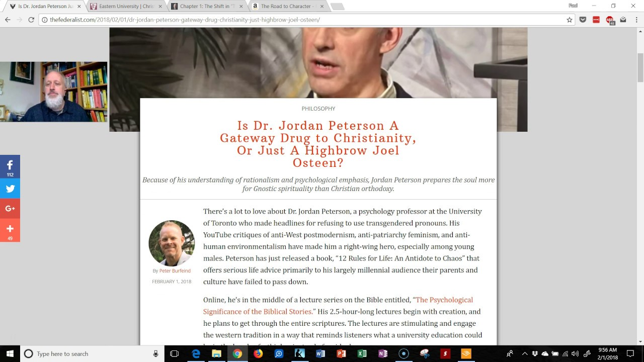 Is Jordan Peterson a Gnostic?