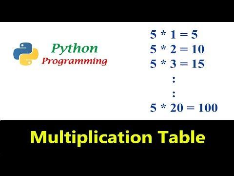 Python Tutorials - Multiplication Table Program thumbnail