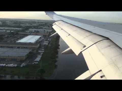 Landing Miami,FL Boeing 757-200 American Airlines
