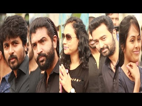 100's of Celebrities Joined Nadigar Sangam Protest On Jallikattu BAN - Film Industry On A Standstill