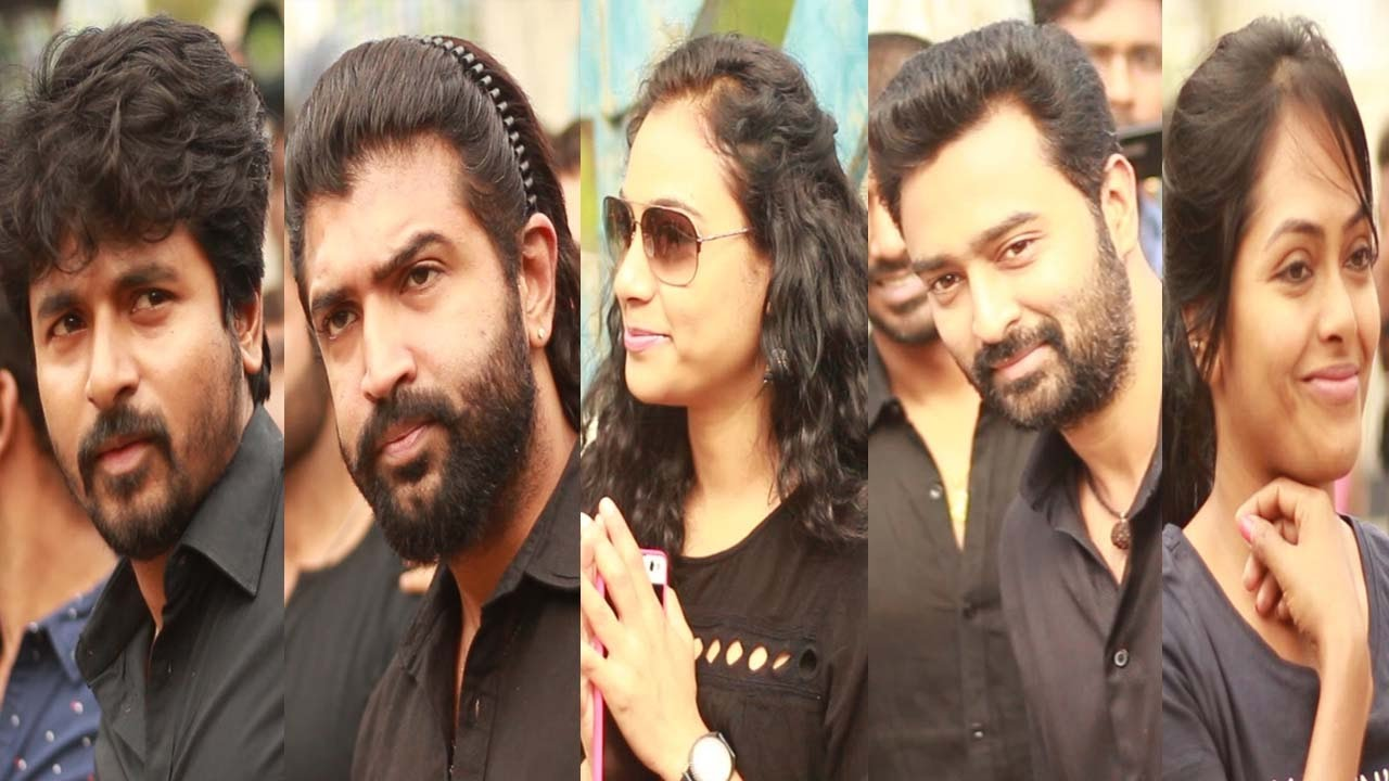 S Of Celebrities Joined Nadigar Sangam Protest On Jallikattu Ban Film Industry On A Standstill Youtube