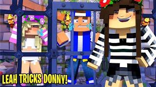 EVIL Little Leah's PLAN FOOLS LITLE DONNY...  Minecraft