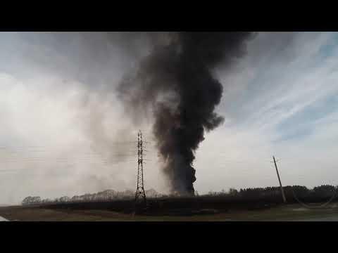 Горит городская свалка в Белово Кузбасс