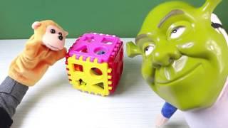 Sherek ve Maymun Zeka Topu ile Oynuyorlar - Shrek Türkçe Çizgi Film
