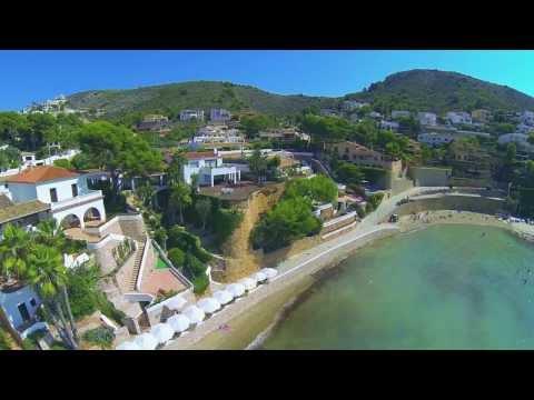 Drone footage of Spain: Javea, Denia & Moraira. With Chakra healing music, 384 Hz, Throat Chakra.