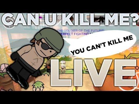 LIVE JUMP! Mini Militia / Anyone Can Join! Can YOU Kill ME?!  QUICK! (Check Description)