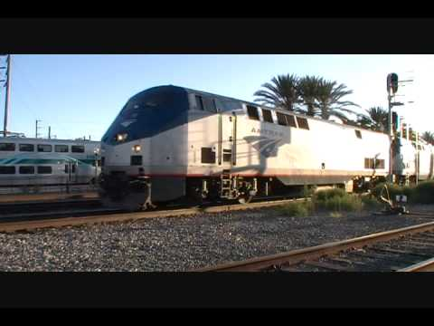 Amtrak Southwest Chief #4 Arrives Fullerton and Departs w/ xtremepadrefan onboard