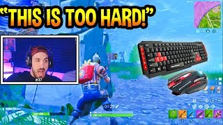 NICKMERCS Uses Keyboard & Mouse FIRST TIME! *TRIGGERED* Fortnite EPIC & FUNNY Moments