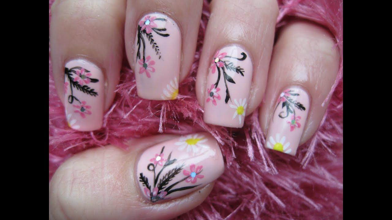 nailart elegant spring design