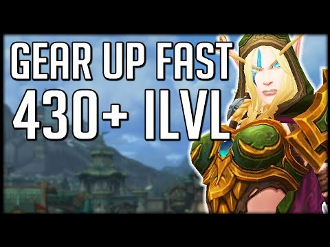 GET 430 ITEM LEVEL FAST - How To GEAR UP In Patch 8.2 | WoW BfA