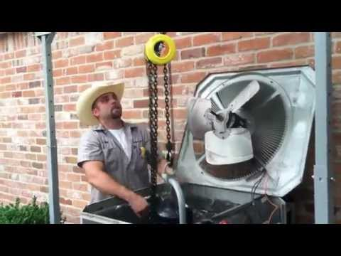 Car Air Conditioner Compressor >> Lift A/C Compressors That Are Too Heavy to Lift by Hand - YouTube