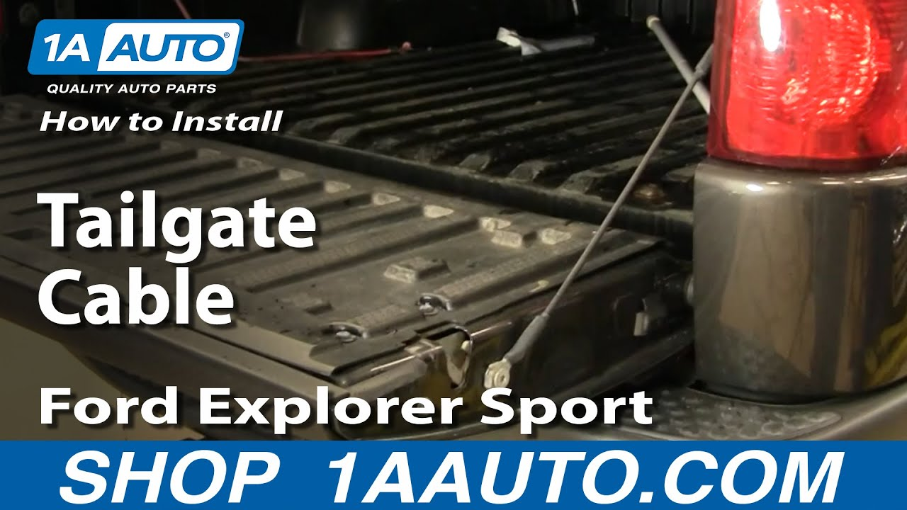 How To Replace Tailgate Cable 01 10 Ford Explorer Sport