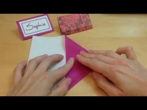 Origami Heart Place Card Origami Heart Place Card Origami Hearts