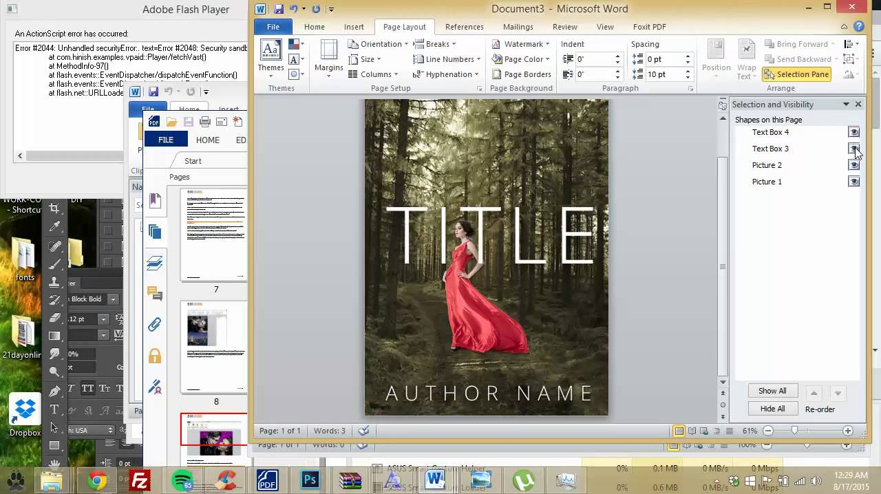How To Make A Book Cover On Word : How to make an ebook cover in microsoft word part