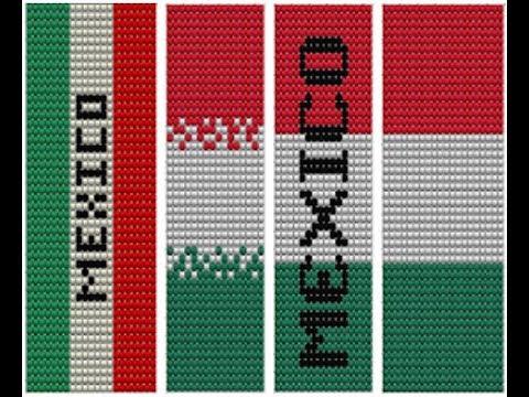 47b03ec5ab52 Diseño bandera de Mexico (plantilla para manilla) - YouTube