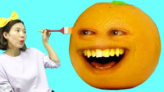 Today, I Drew and Painted Annoying Orange Learn ColorsㅣJoy Art SeoeunStory