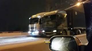 Новосибирск. Мост заблокирован.