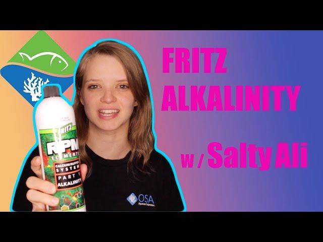 Fritz Aquatics Calcium/Buffer System Part 1 ALKALINITY  W/ Salty Ali