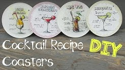 Cocktail Recipe Coasters DIY ~ Another Coaster Friday Craft Klatch