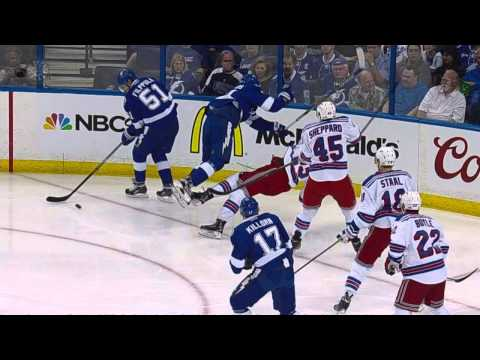 Gotta See It: Stamkos catches Hayes with head down