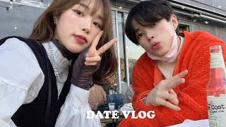 Dating Vlog in Japan👩‍❤️‍👨ㅣ2021's First sticker photoㅣKitahama Cafe☕️ㅣBuying LoFT Stationery