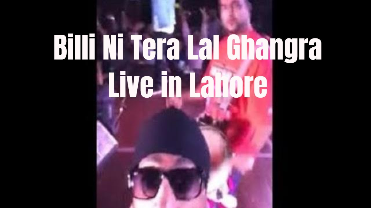 'Billo Ni Tera Lal Ghagra' Acoustic version live on stage in Lahore