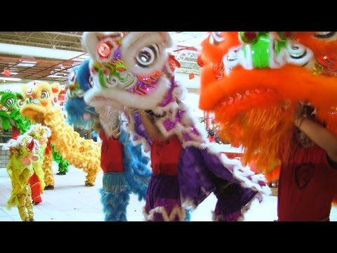 Lion Dance Calgary 2013 At T&T Super Market Day 2 CNY