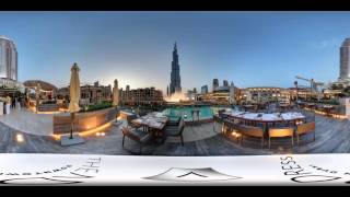 360 of Burj Fountains from The Address Downton
