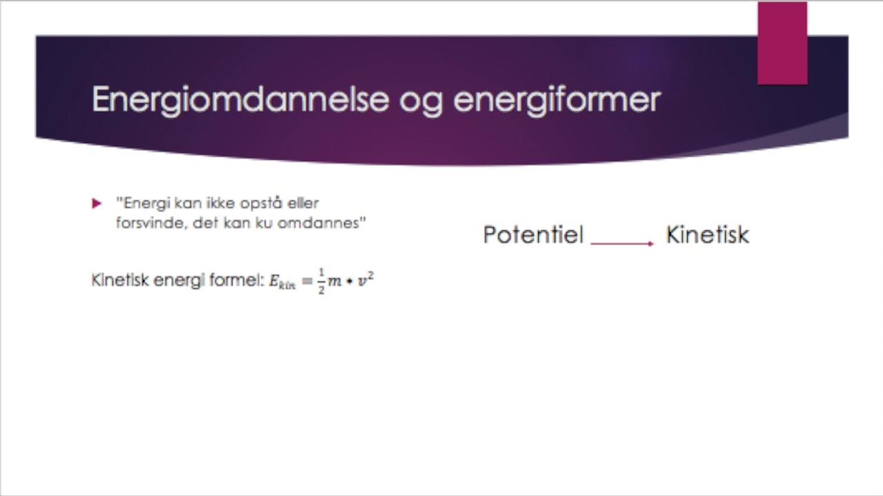 Fysik C Energi