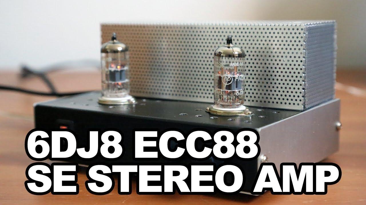 6DJ8 ECC88 SE Stereo Amplifier - Bedside QRP Tube AMP, Loftin-White