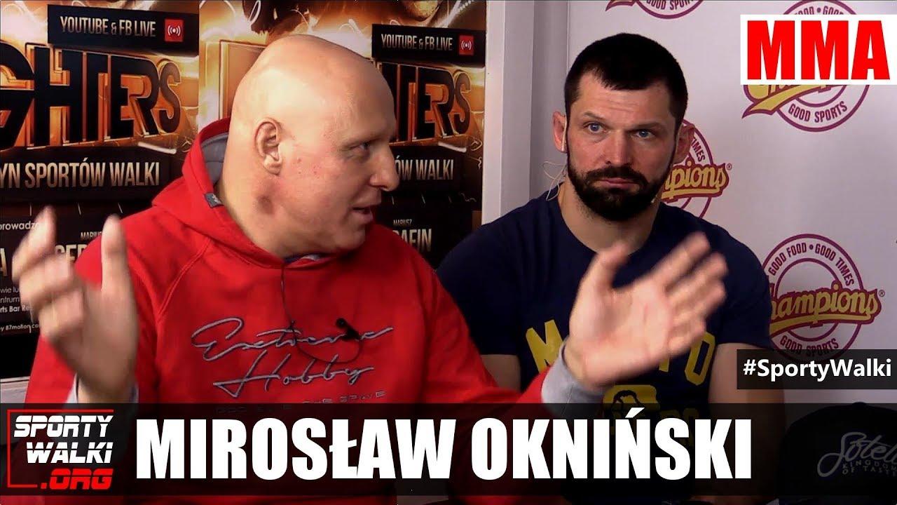 Mirosław Okniński o konflikcie z KSW i współpracy z Babilońskim